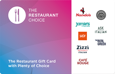 Restaurant Choice Gift Card and e-Gift